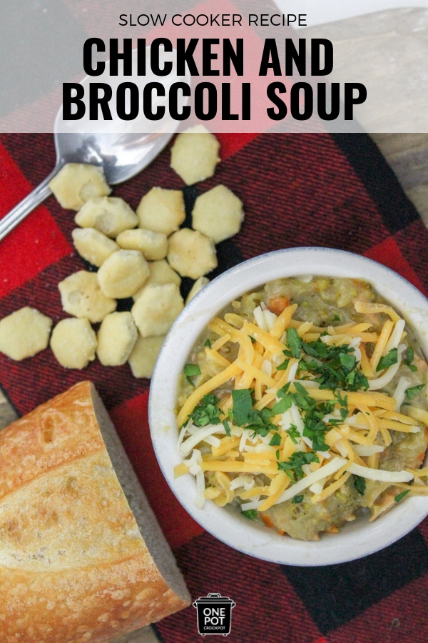 Creamy Chicken and Broccoli Soup to warm the soul! #slowcooker #soup #yummy #slowcookingclub #onepotcrockpot