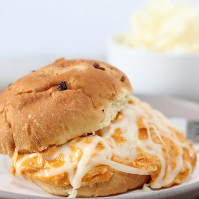 Game Day Creamy Buffalo Ranch Shredded Chicken