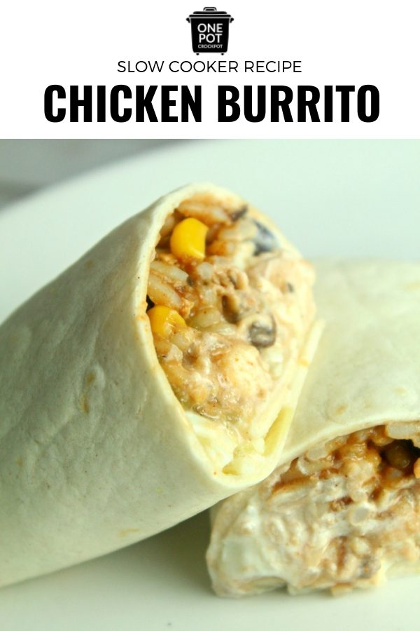 If you're searching for a delicious and simple slow cooker recipe, this chicken burrito is perfect! #slowcooker #chickenburrito #slowcookerchickenburrito #slowcookingclub