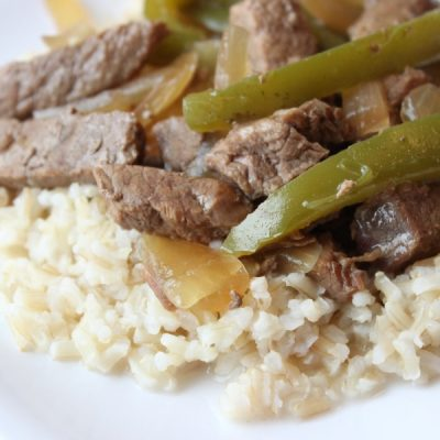 Slow Cooker Peppered Steak
