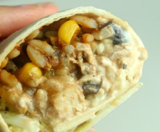 simple chicken burrito