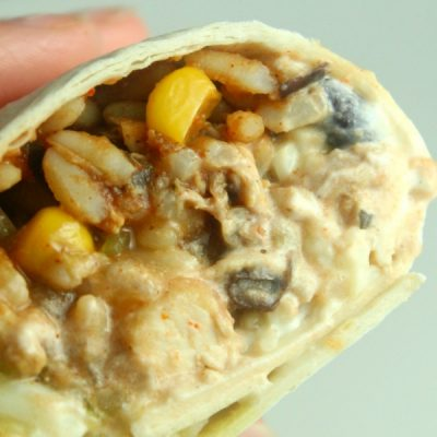Yummy Slow Cooker Chicken Burrito