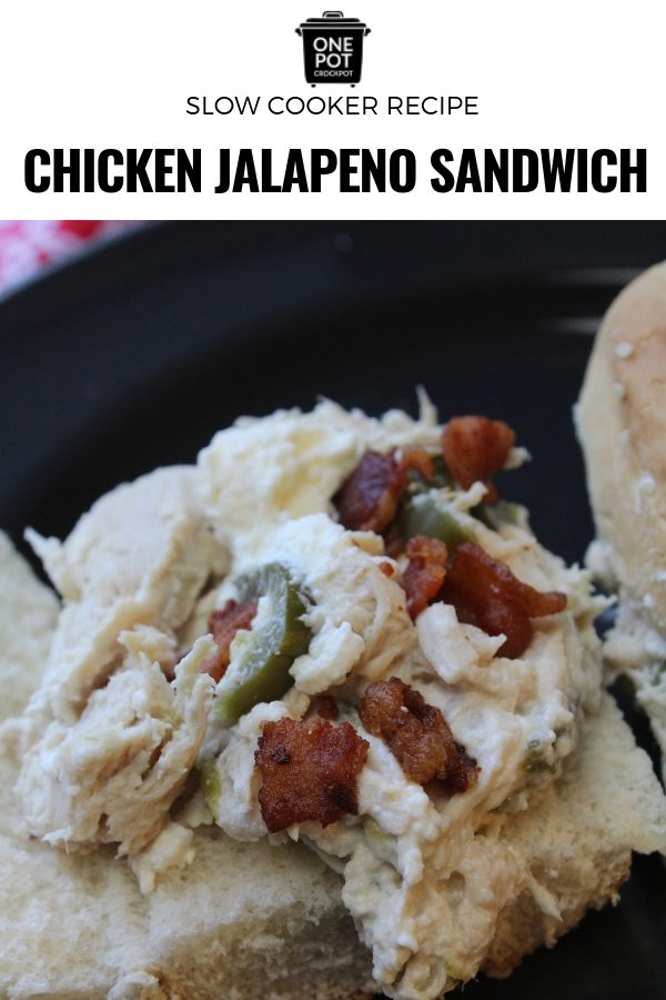This Chicken Jalapeño Sandwich is perfect for a quick and spicy lunch or dinner! #chickensandwich #spicy #slowcookingclub
