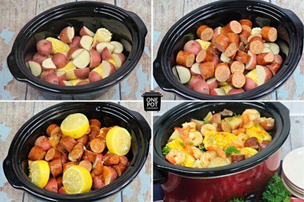 steps to make crockpot shrimp boil