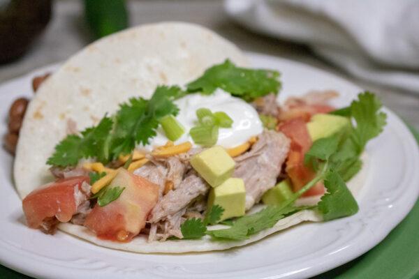 slow cooker pork taco