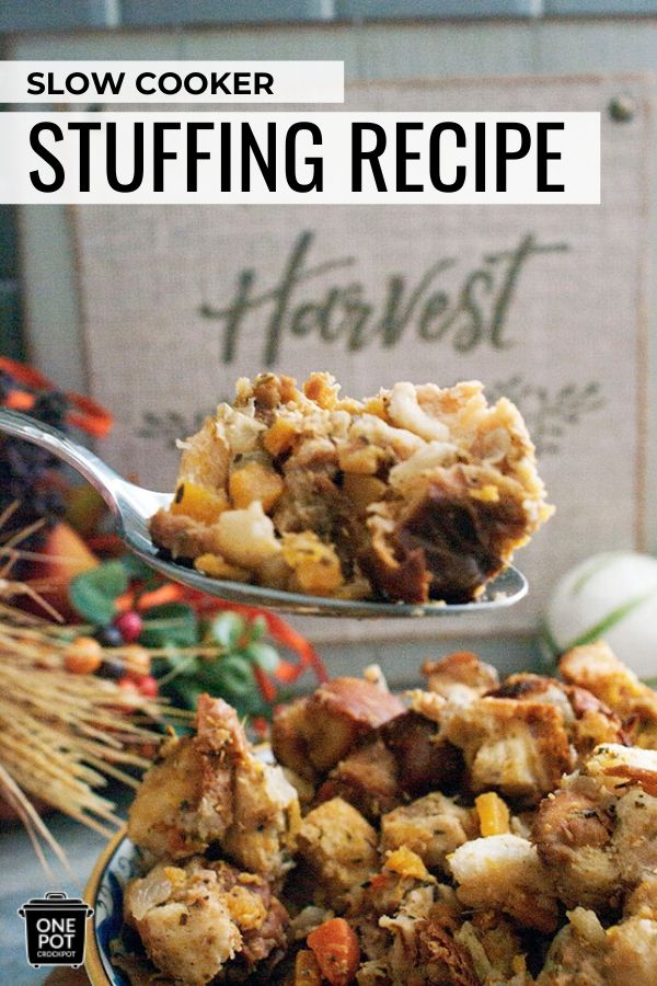 Slow Cooker Butternut Squash Stuffing Recipe