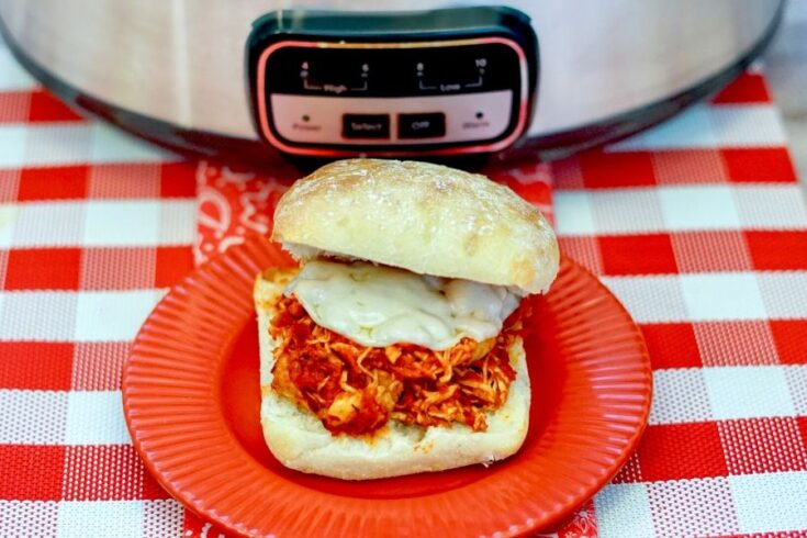 Slow Cooker Chicken Parmesan Sandwiches