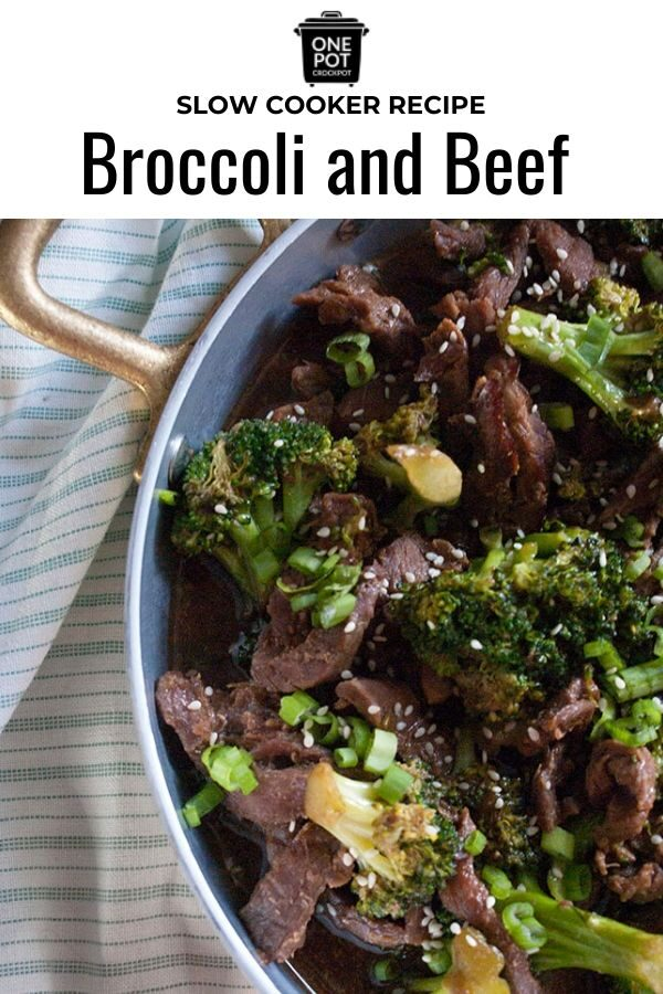 This crock pot broccoli and beef is a simple and easy recipe. Full of taste and flavor! #slowcooker #broccoliandbeef