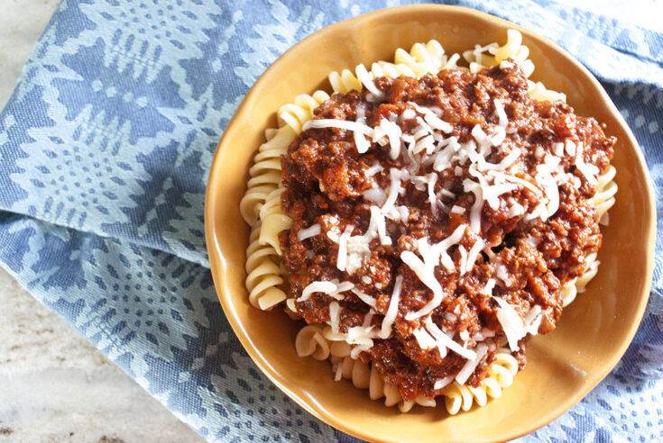 Slow Cooker Beef Bolognese Sauce