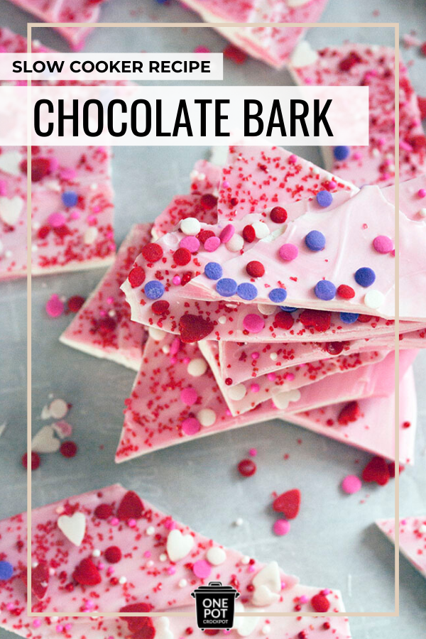 pinterest graphic for chocolate bark recipe