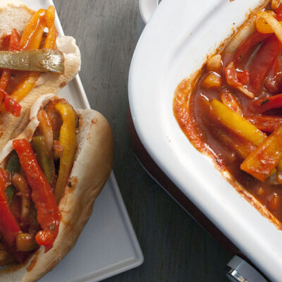 Crockpot Sausage and Peppers