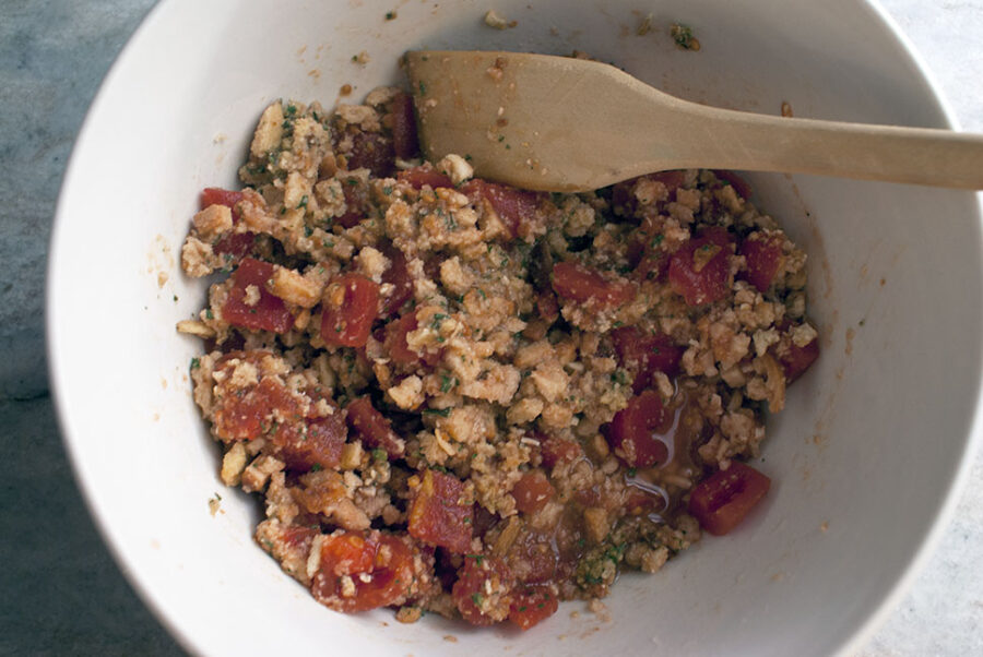 stuffing mix with diced tomatoes