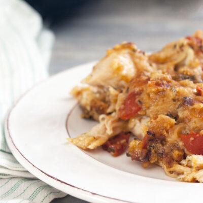 Crockpot Chicken Bruschetta
