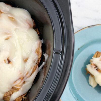 Slow Cooker Cinnamon Roll Casserole