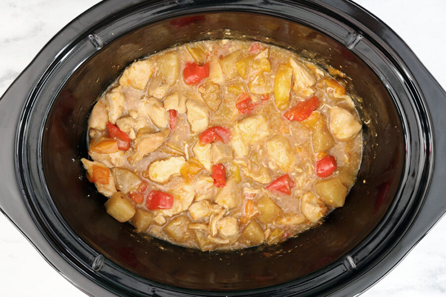 cooking pineapple chicken in the crockpot